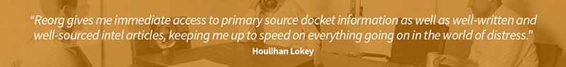 testimonial from Houlihan Lokey