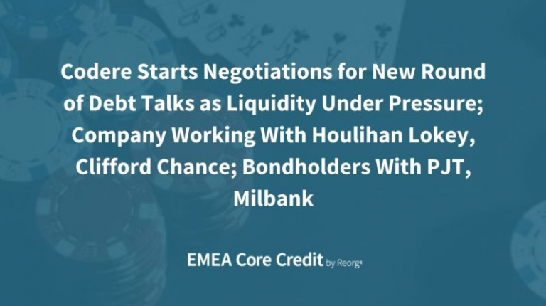 Codere Financial Restructuring: Working With Houlihan Lokey, Clifford Chance, PJT Partners, Milbank