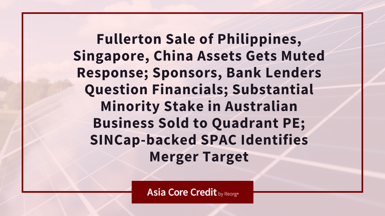 Fullerton Sale of Philippines, Singapore, China Assets Gets Muted Response
