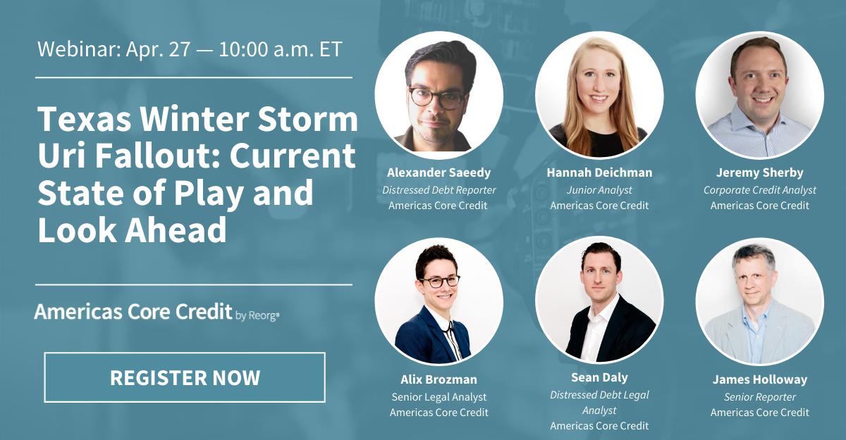 Texas Winter Storm Uri Webinar – Financial and Legal Repercussions