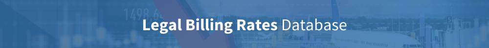 Legal billing rates database