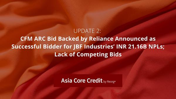 JBF Industries Debt Analysis, CFM ARC Bid Announced as Successful
